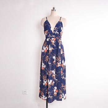 Sexy Beach Sundress Print Summer High Women Dress 3