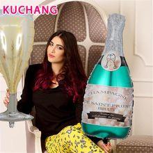 Balões de alumínio de garrafa de vinho, grande tamanho, champagne, garrafa de cerveja, folha de alumínio, gás hélio, festa de aniversário, casamento, decoração de casa