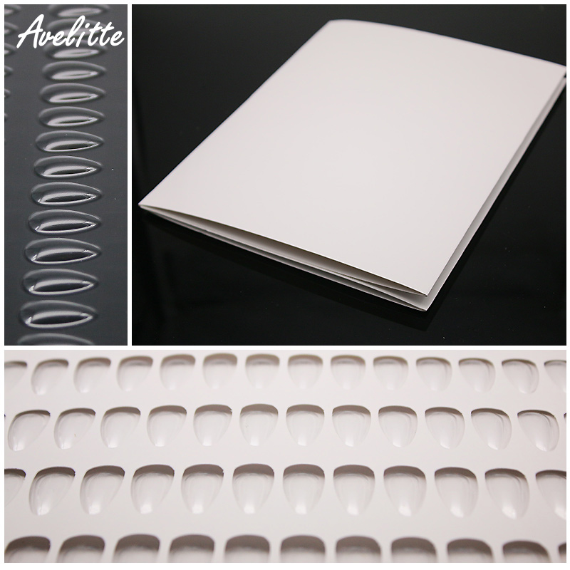 Avelitte Color Card Book Nail Polish Advanced Display Book Nail Swatch 140 Color Nail Aid Tool