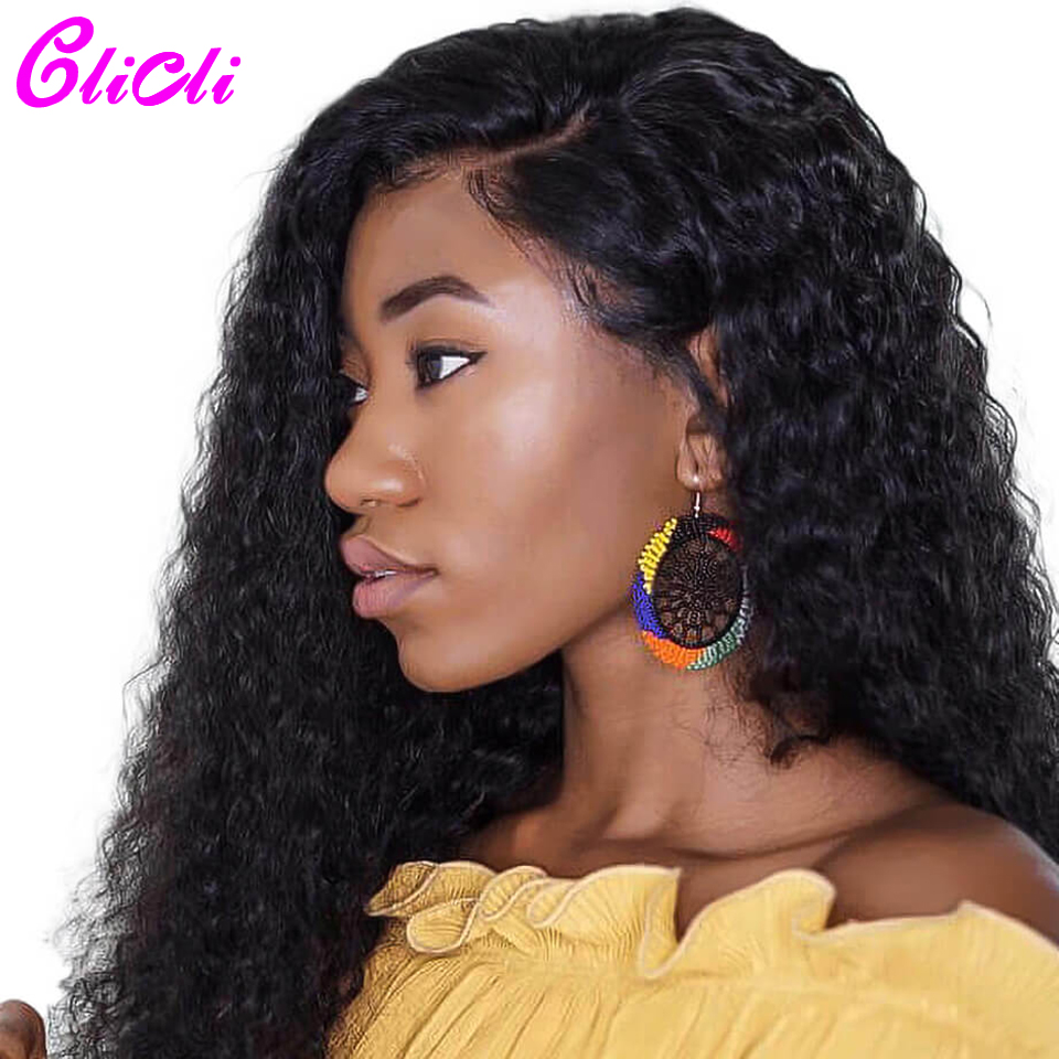 13x4 Deep Wave HD Transparent Lace Human Hair Wig 13x6 Deep Part Brazilian Hair Lace Front Wig Bleach Knots 150% Density Clicli