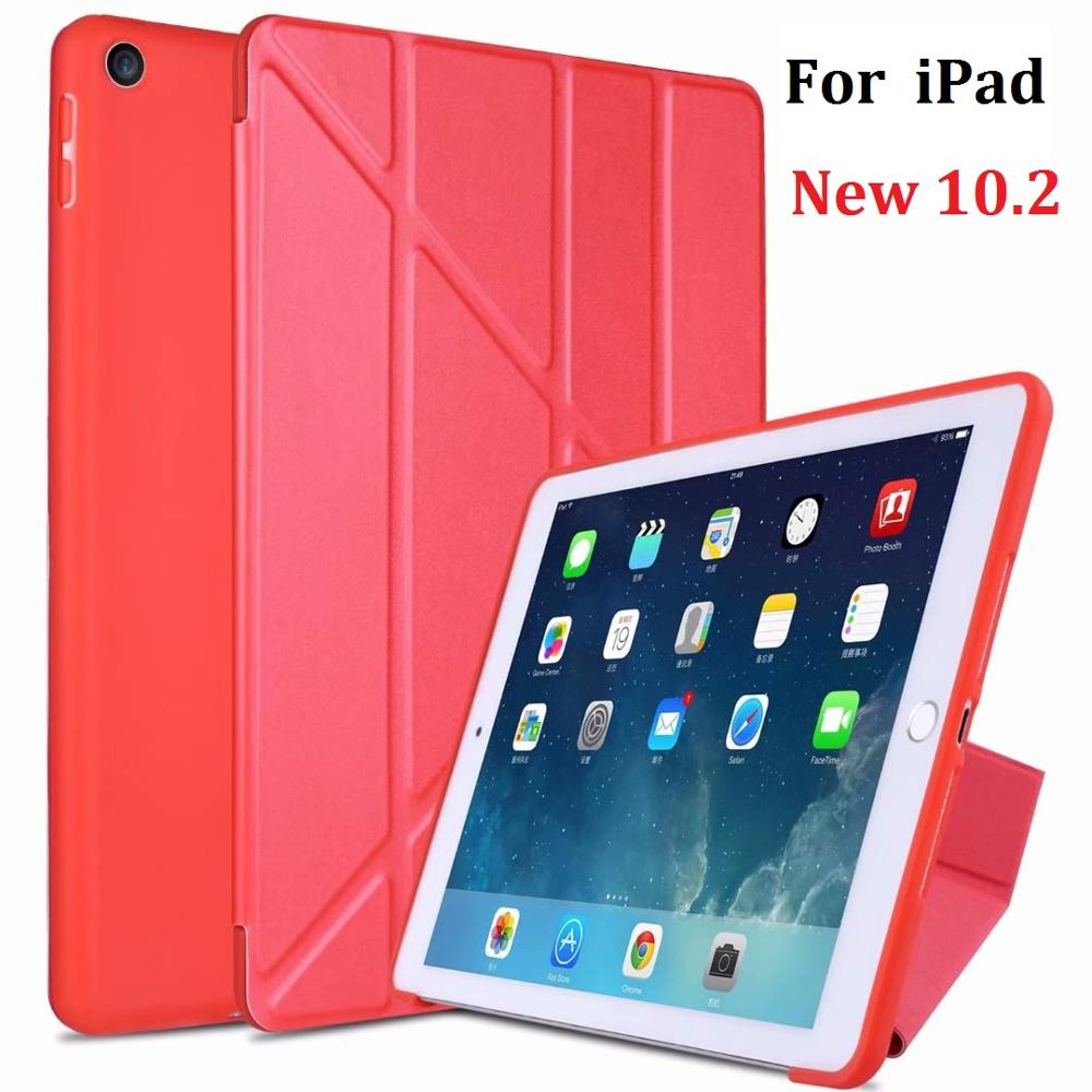 New Folding Stand Coque For iPad 10.2 2019 Case Soft Silicone Cover for iPad 7th 10.2 2019 A2197 A2198 Protective Cover|Tablets & e-Books Case| |  - title=
