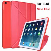 New Folding Stand Coque For iPad 10.2 2019 Case Soft Silicone Cover for iPad 7th 10.2 2019 A2197 A2198 Protective Cover|Tablets & e-Books Case| |  -