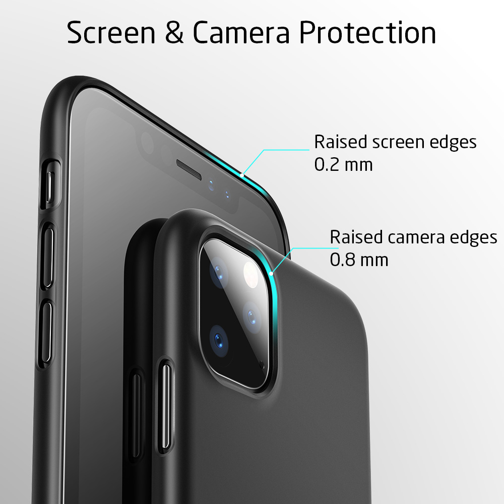 H8f576cf720624fc48d0f7344c023934bS ESR Case for iPhone 11 Pro Max 2019 Simple Protect Case Green Black Grip Brand Shockproof Protective Cover for iPhone11 iphon