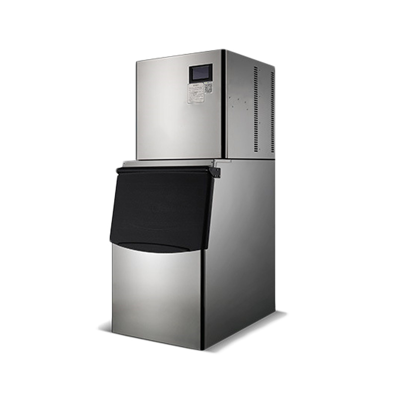 150KG/24H Commercial Ice Maker ZB-300 Type Full-Automatic Ice Machine Vertical Stainless Steel Electric Ice Maker 220V 1PC