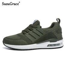 SusuGrace/мужские кроссовки; амортизирующая обувь для бега; спортивные кроссовки; дышащая беговая Обувь для влюбленных; подошва с воздушной подушкой