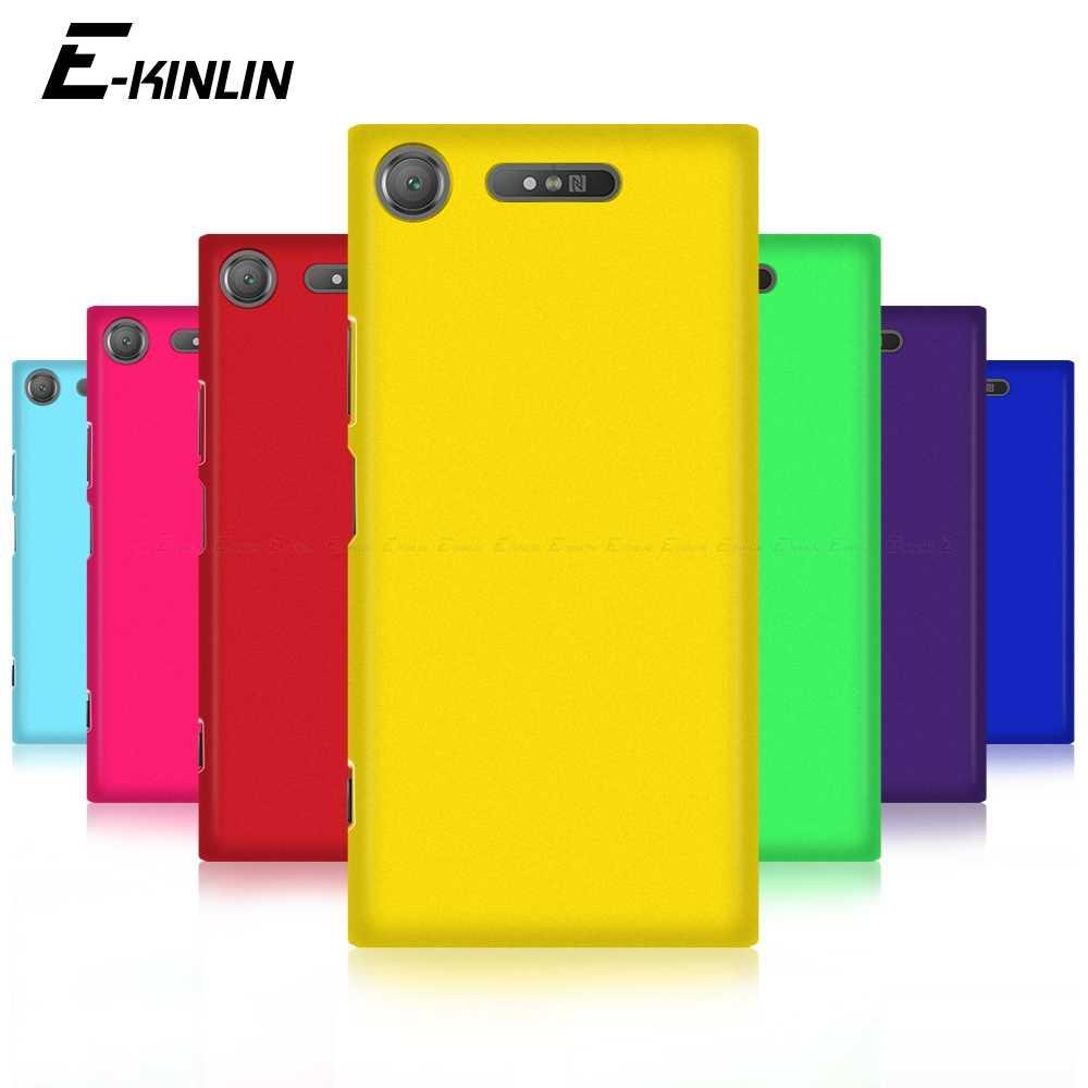 , Twarda, matowa futerał na telefon Ultra cienki tylna pokrywa dla Sony Xperia 1 5 8 10 II XA2 XA1 XA Ultra plus XZ3 XZ2 XZ1 XZS XZ Premium kompaktowy