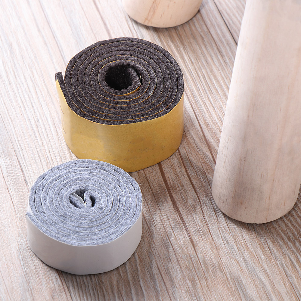 100pcs Floor Protector Furniture Feet Felt Pads Black Self Adhesive Sticky