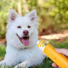 3 в 1 ПЭТ ультразвуковой собачий регулятор для репеллента Анти лай Стоп кора ручное устройство для обучения собак с светодиодный свет без батареи ZA