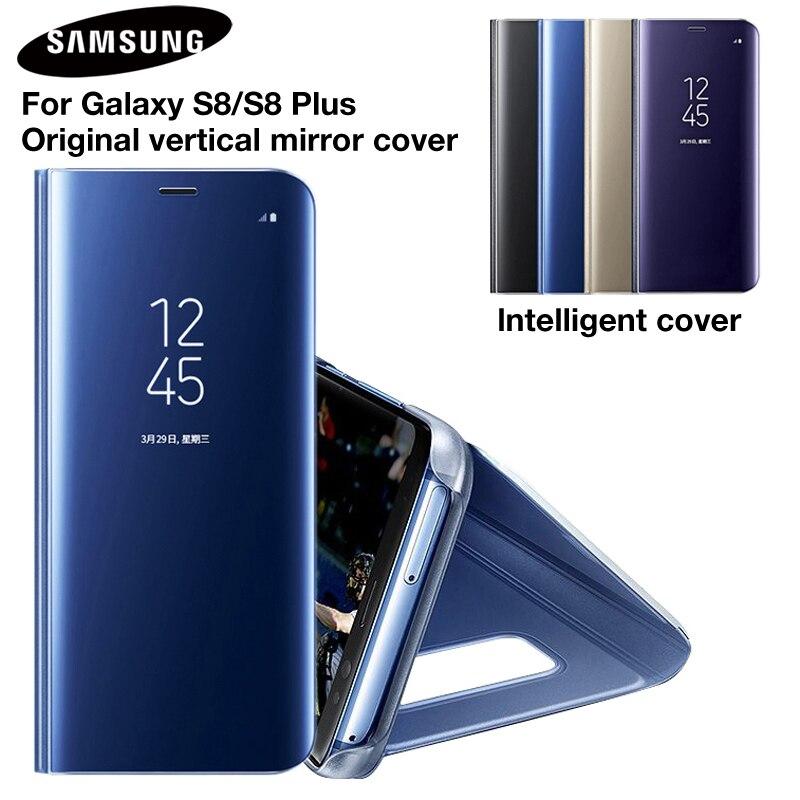 SAMSUNG Original miroir couverture vue claire Flip téléphone étui pour SAMSUNG Galaxy S8 S8 + S8 Plus projet Dream G9508 G955 G950U S8plus