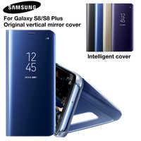 SAMSUNG Originale Copertura Dello Specchio Clear View Caso di Vibrazione Del Telefono Per Samsung Galaxy S8 S8 + S8 Più Il Progetto Sogno G9508 g955 G950U S8plus