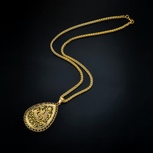 NJ Necklace National Style Personality Round Female Models Rhinestone Alloy Clavicle Simple Jewelry Va