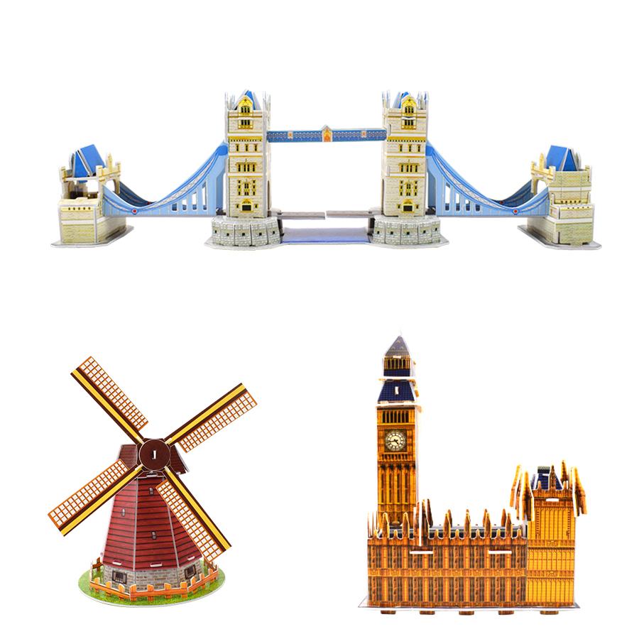 Image 5 - Carboard Building Model 3D Toys Puzzles for Kids DIY World Famous Tower Bridge White House Jigsaw Puzzle Educational Toys Gifts-in Puzzles from Toys & Hobbies