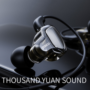 Image 4 - D6 Wired Headphones Sports Running 3.5mm Handsfree with Mic TWS Pro Deep Bass Waterproof Gaming In Ear Earphone Noise Canceling