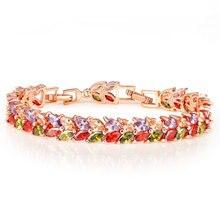 bracelet Women's bracelet Amethyst bracelet gemstone Rose gold zircon flower Vintage amber gold jewelry diamond bracelet  BR0124 цены онлайн