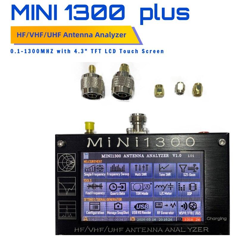 Антенна счетчик MINI1300 HF/VHF/UHF антенный тестер Мини-1300 частота 0,1-1300 МГц с 4,3