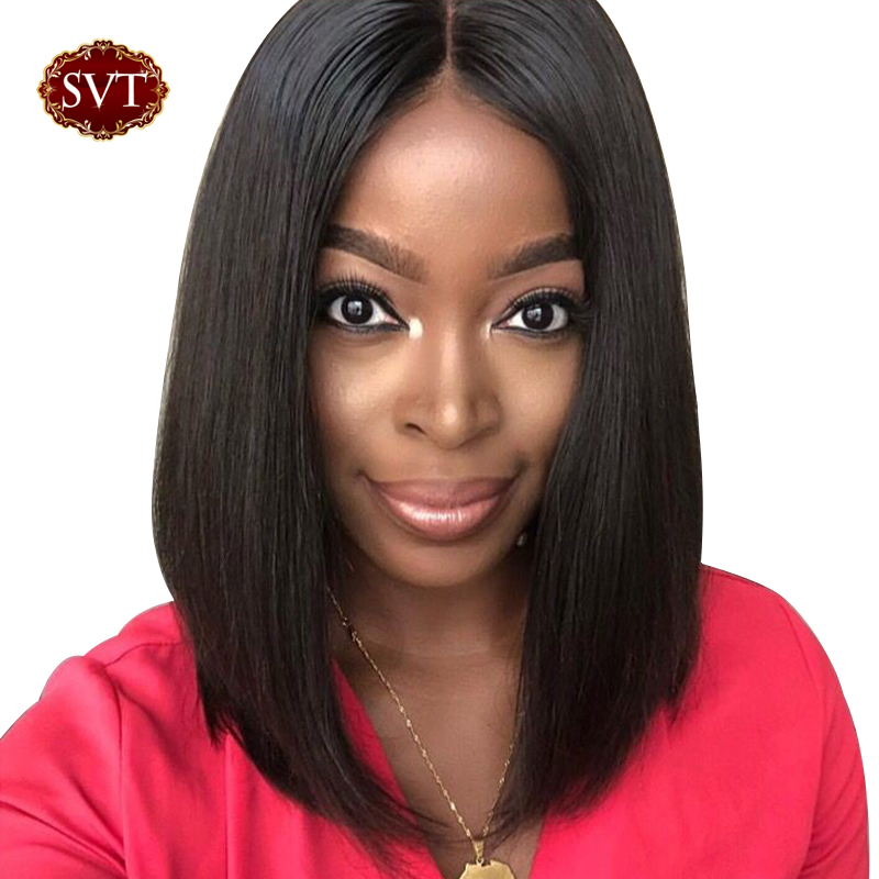 SVT Hair 13X4 Remy Short Wigs Human Hair Wigs Bob Lace Front Wigs For Women Cheap Brazilian Hair Straight Lace Closure Wig