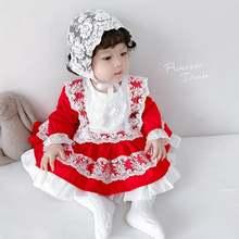 Испанская одежда для малышей; Осенние испанские платья девочек;