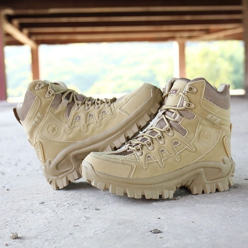 Outdoor <font><b>Mens</b></font> Waterproof Hiking <font><b>Shoes</b></font> <font><b>Winter</b></font> Snow Boots Military Combat Boots Rock Climbing <font><b>Shoes</b></font> Hunting Tactical Boots image
