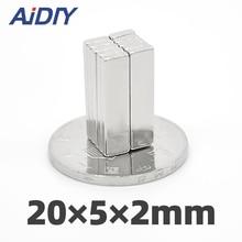 цена на 10/20/50 pcs 20mm x 5mm x 2mm N35 neodymium magnet super strong power magnet 20 * 5 * 2mm free shipping