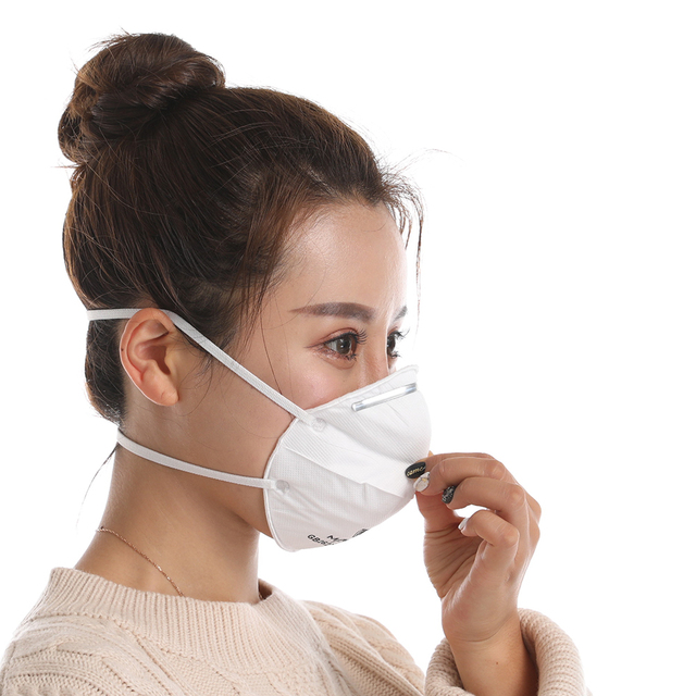 FDBRO 2020 KN95 Cup Mask Anti Flu Face Mask White PM2.5 Adjustable Strip Dust Outdoor Breathable Facial Nonwoven Masks Free Ship 1