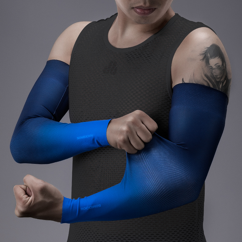 Arm Sleeves Cycling Ice Fabric Camping Men Women Arm Warmers Sleeve Outdoor Sports Sun UV Protection Breathable Sleeve