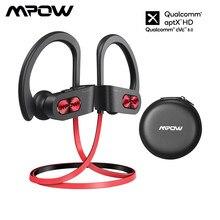 Mpow chama s aptx hd bluetooth 5.0 fones de ouvido sem fio com ipx7 à prova dwireless água baixo + cancelamento ruído mic 12h jogando tempo