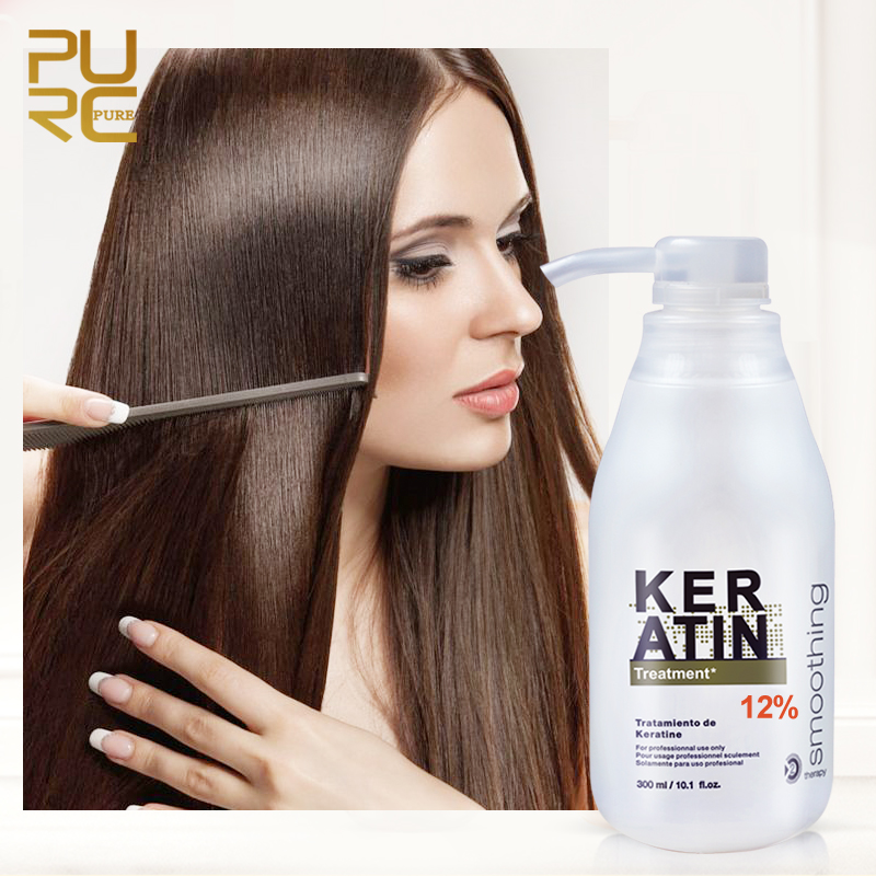 Kinky Curly Hair Treatment Straighten Hair Keratin Repair Hair Treatment 12% Formalin Supple Shiny Hair Care 300ml|Shampoos|   - AliExpress