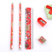 Christmas Stationery Set Pencil Eraser Combination Primary School Holiday Gift 2.4x7cm 2019 Hot Sale Gift For Children