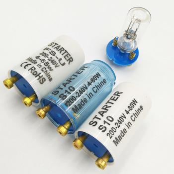 10 sztuk bezpiecznik startowy S10 dla 4-80W 180-250VAC fluorescencyjne świetlówka bezpiecznik elektroniczny rozrusznik lampa fluorescencyjna rozruszniki CE ROHS tanie i dobre opinie 0 55 protection 135V 1 YEARS 1600V S10 starters 0 05s Brass tacks