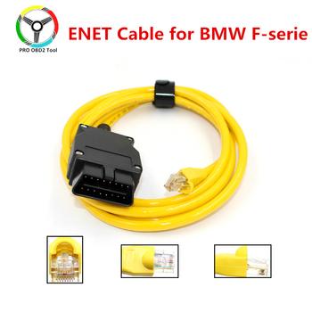 Jakość E-SYS ENET kabel do BMW f-series ICOM OBD2 kodowanie kabel diagnostyczny Ethernet do ESYS dane kodowanie OBDII ukryte narzędzie danych tanie i dobre opinie XTYDIAG CN (pochodzenie) High Quality ESYS 3 23 4 V50 3 Newest Plastic Złącza i kable diagnostyczne do auta 0 3kg For BMW F series