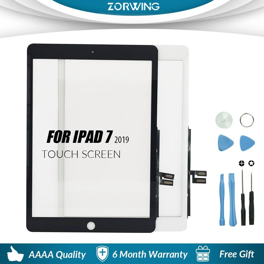 Сенсорный экран для iPad 7 2019 A2197 A2200 A2198 стеклянная панель дигитайзера LCD Внешний дисплей Замена сенсорного стекла с кнопкой домой