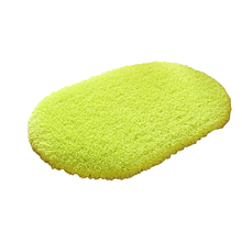 Alfombras de baño antideslizantes de 40x60cm, Alfombra de lana Coral, absorción de agua