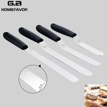 4 Pcs Cake Spatula Palette Knife Set G.a HOMEFAVOR Angled Stainless Steel Icing Offset Decorating Knives