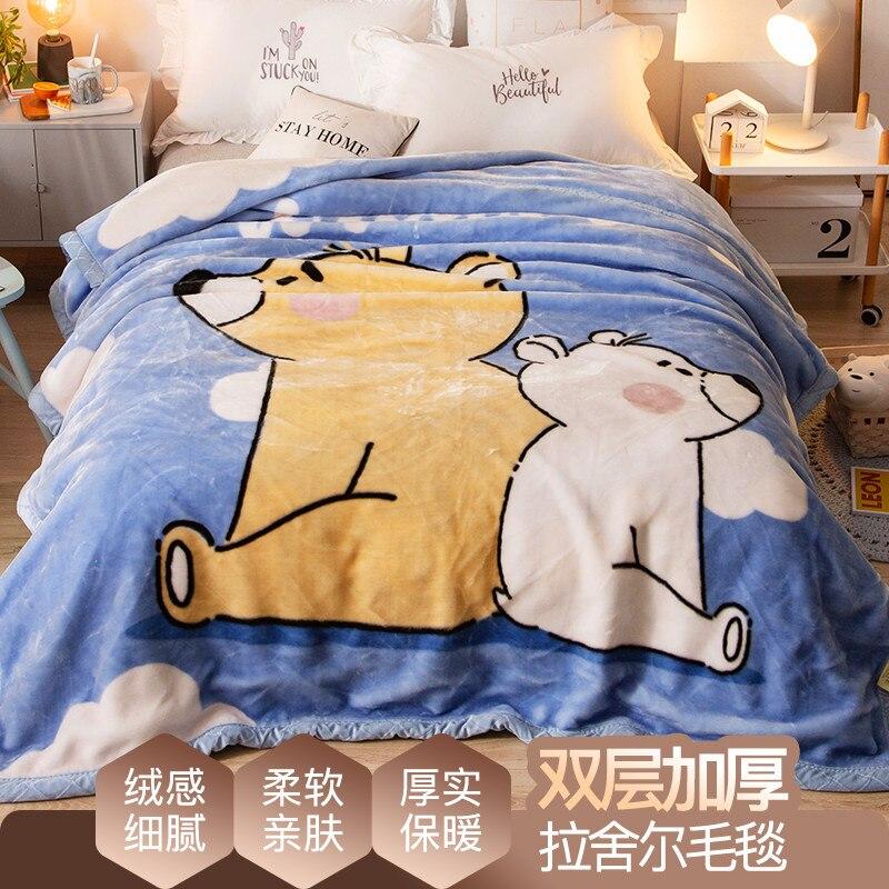 Novo design raschel cobertores para o miúdo dos desenhos animados cobertor lance cobertor de cama alta qualidade grosso quente no sofá cama cf - 3