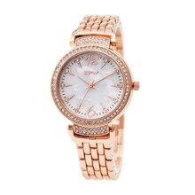 TPW Hot Sale Fashion Stainless Steel Rose Gold & Silver Band Quartz Watch Luxury Women Rhinestone Watches Valentine Gift