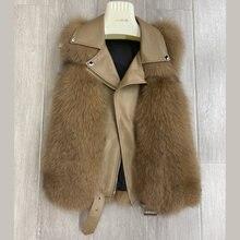 Зимний стильный жилет из лисьего меха для женщин женская короткая