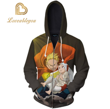 My Hero Academia Bakugou Katsuki Cosplay Costume Hoodies Jackets 3D Printed Zip Men Women Sweatshirts
