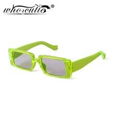 WHO CUTIE 2020 Green Rectangle Sunglasses Women Brand Design
