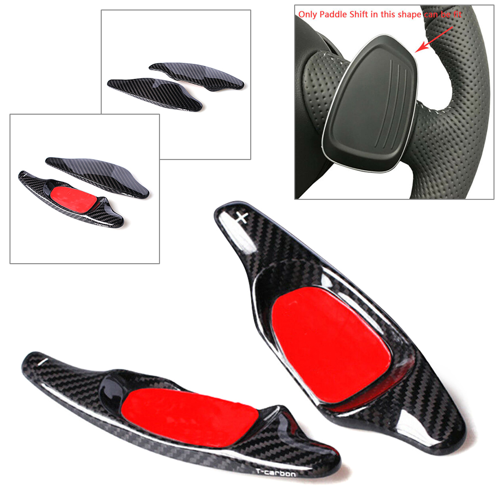 Red Car Steering Wheel Shift Paddle Shifter Extended Shifter Trim Cover Interior Decoration Accessories for Audi A5 S3 S5 S6 SQ5 RS3 RS6 RS7
