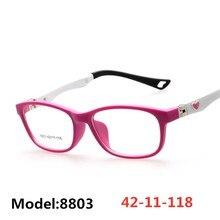Детская оптическая оправа, детские очки для девочек, оптическая оправа, прозрачная, по рецепту, гибкая TR Oculos de Sol Infantil 8803