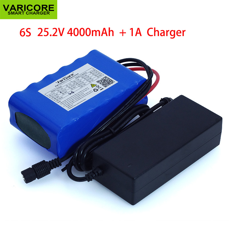 VariCore <font><b>24V</b></font> <font><b>4Ah</b></font> 6S2P 18650 <font><b>battery</b></font> pack 25.2v 4000mah electric bicycle / electric / lithium ion <font><b>battery</b></font> pack 1A charger image