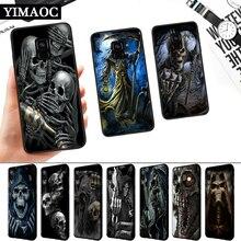 Grim Reaper Skull Skeleton Silicone Soft Case for Samsung A3 A5 A6 Plus A7 A8 A9 A10 A20 A30 A50 A10S A30S A50S