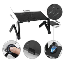 лучшая цена Adjustable Computer Desk Table Folding Laptop Notebook Stand Bed Tray Aluminum Alloy Portable Anti-Skid Table Office Furniture