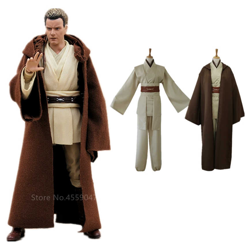 Erwachsene Star Wars Jedi Knight Cosplay Kostüm Mantel Anakin Halloween Kostüm für Frauen Männer Phantasie Anakin Skywalker Karneval Party