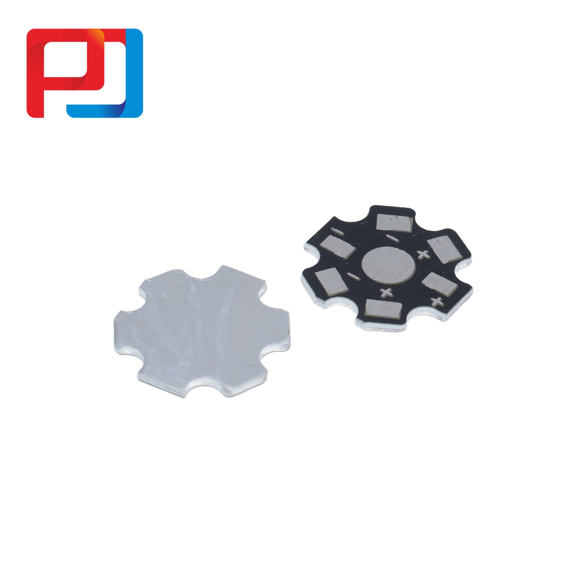 50Pcs//Pack High Power LED Radiator Base Plate Radiator For PCB Board Metal