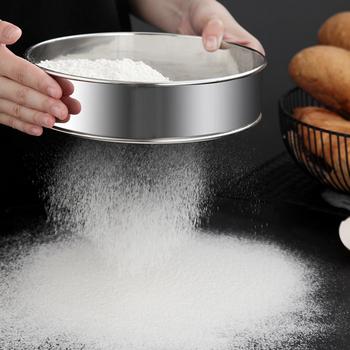 Kuchnia z drobnymi oczkami sito do mąki profesjonalne okrągłe sito do przesiewania mąki ze stali nierdzewnej sitko przesiewacze najlepsze na pieczenie w kuchni herbata tanie i dobre opinie CN (pochodzenie) Przesiewacze i shakers Ekologiczne YJ47231 STAINLESS STEEL Narzędzia do pieczenia i cukiernicze