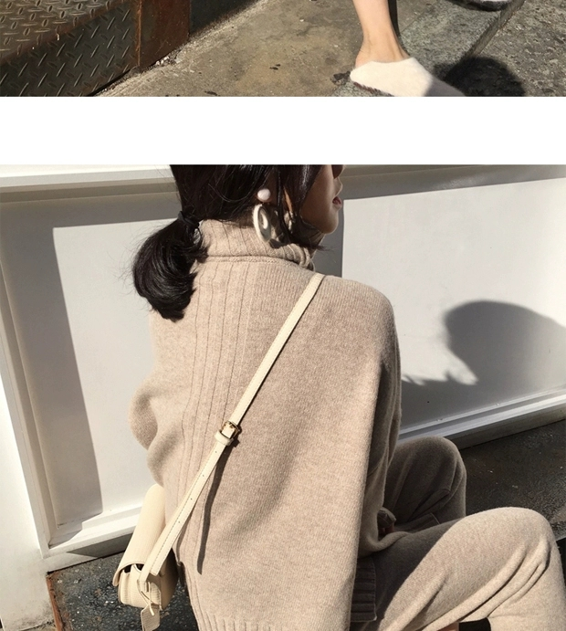 H8f5a4df1c3e94a9f956a744b1820214eA - Autumn / Winter Turtleneck Sweater and Straight Solid Pants