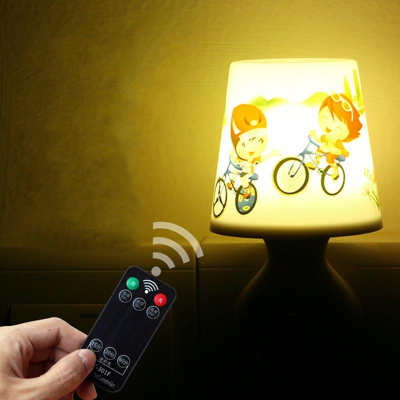 Remote Control Night Lamp Flower Pot Lamp Energy Saving Socket Power Supply Led Lamp 70x90x115mm Adjustable Light Timing Lamp