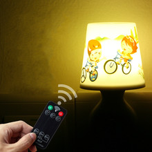 Remote Control Night Lamp Flower Pot Lamp Energy Saving Socket Power Supply Led Lamp 70x90x115mm Adjustable light timing Lamp