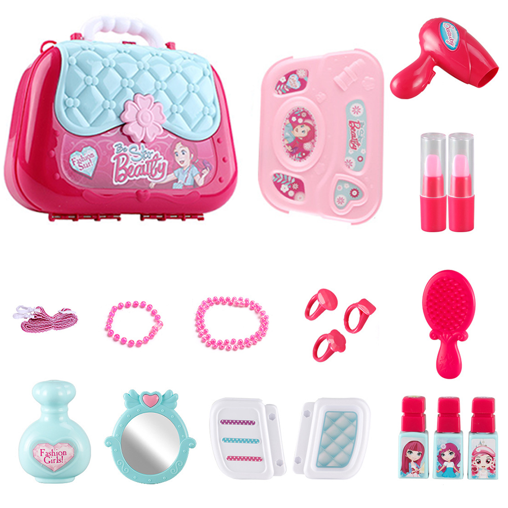 Little Cosmetics Kit Pretend Play Toys Little Girls Cosmetic Play Set Kids Beauty Salon Makeup Set Toy Mirror Fashion Toys #10